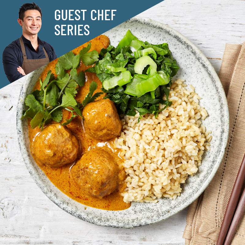 Chicken & Shiitake Meatballs, Red Curry (ND)